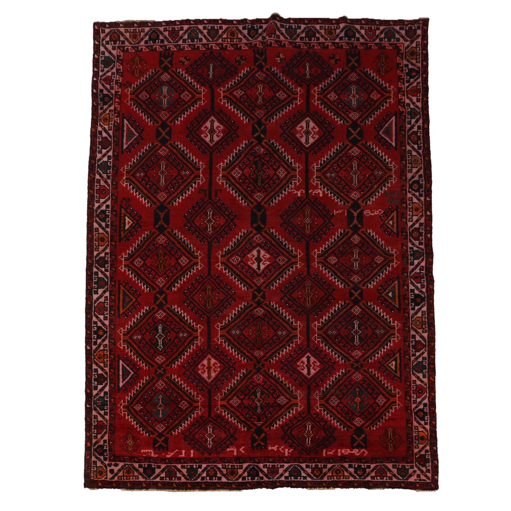 Hand-Knotted Shiraz Area Rug
