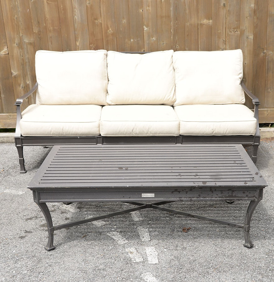 Outdoor Patio Sofa And Coffee Table By Restoration