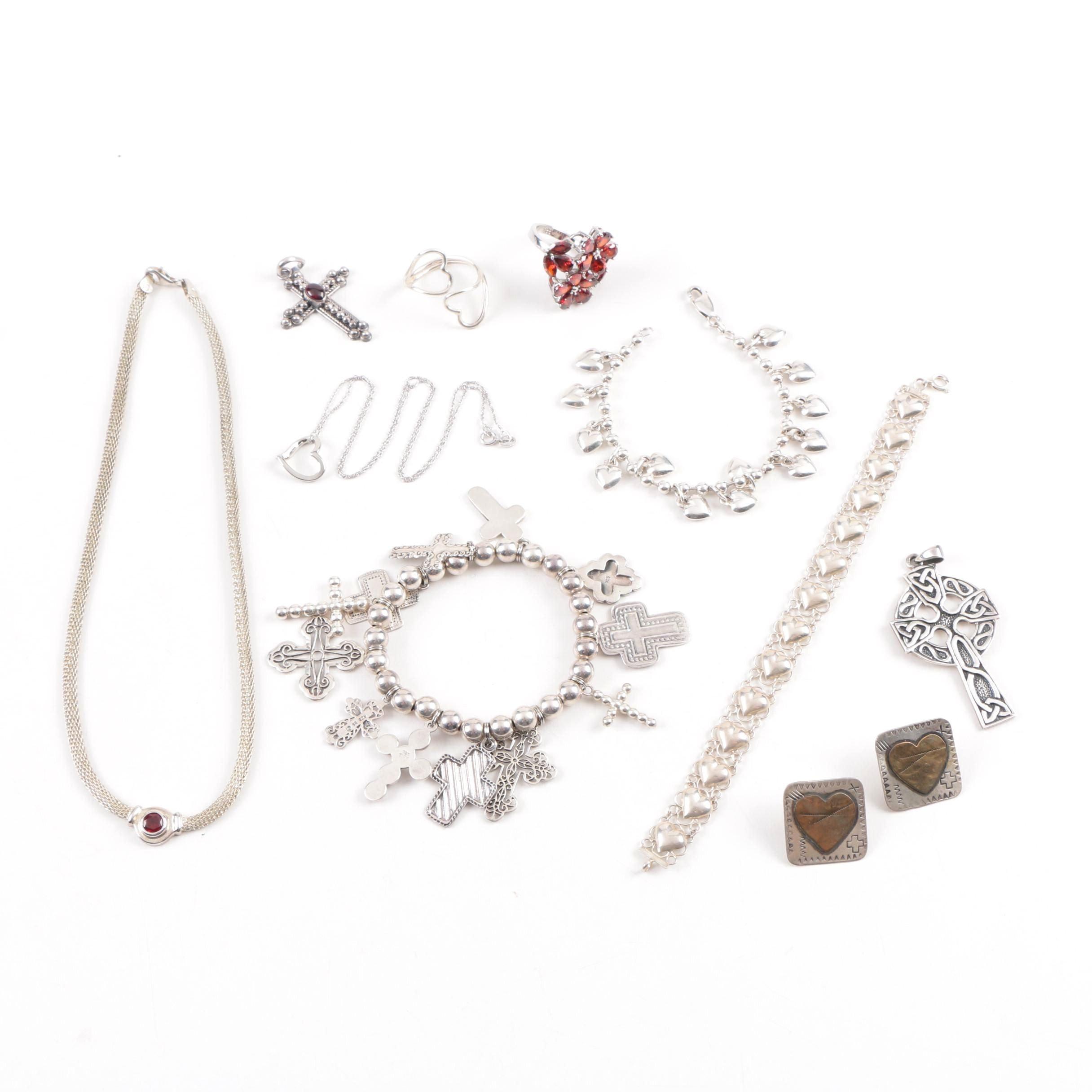 Sterling Silver Garnet Jewelry Assortment