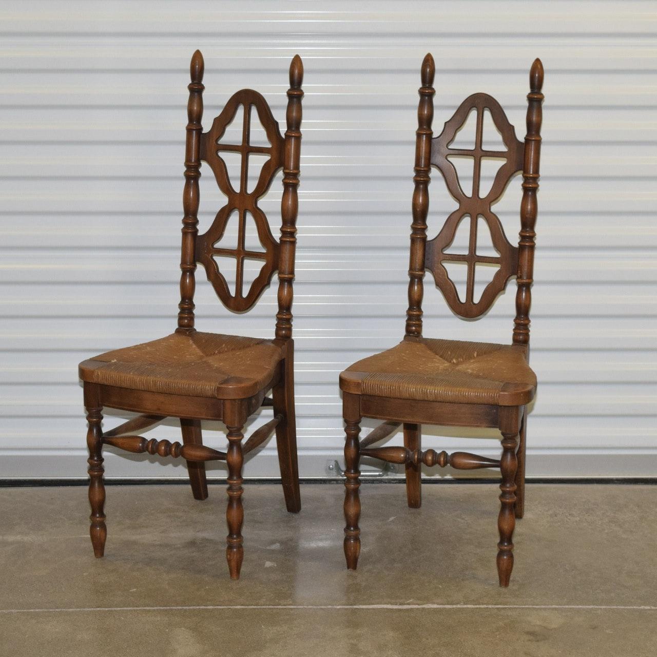 Vintage Kosuga Japan Teak And Rush Seat Chairs ...