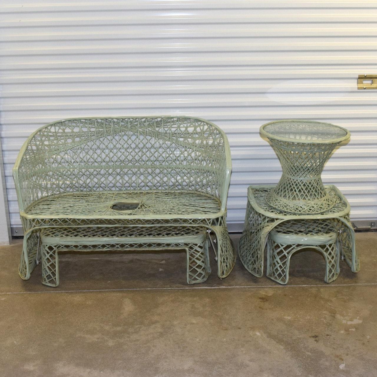 Mid Century Russel Woodard Spun Fiberglass Patio Furniture