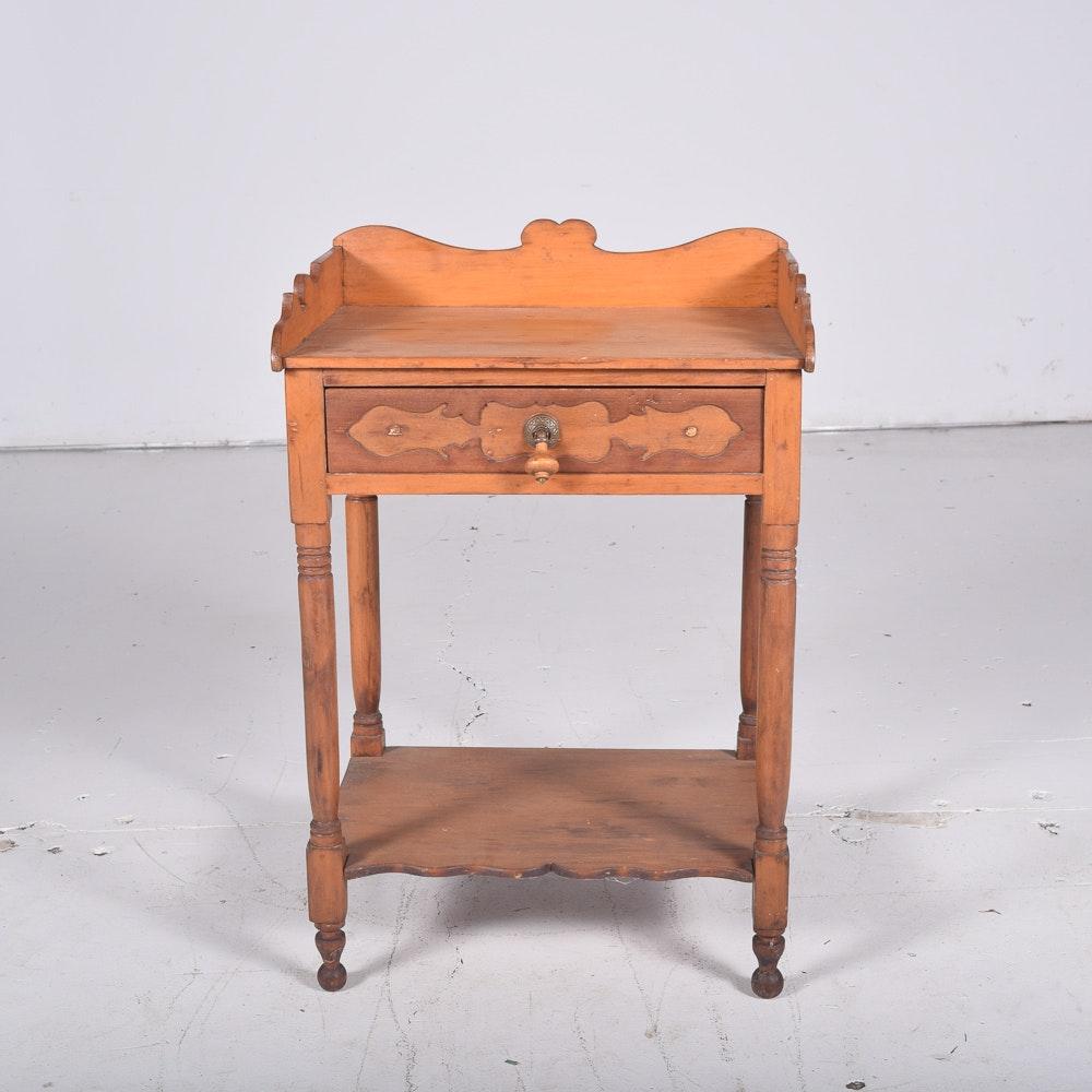 Antique Oak Eastlake-Style Washstand