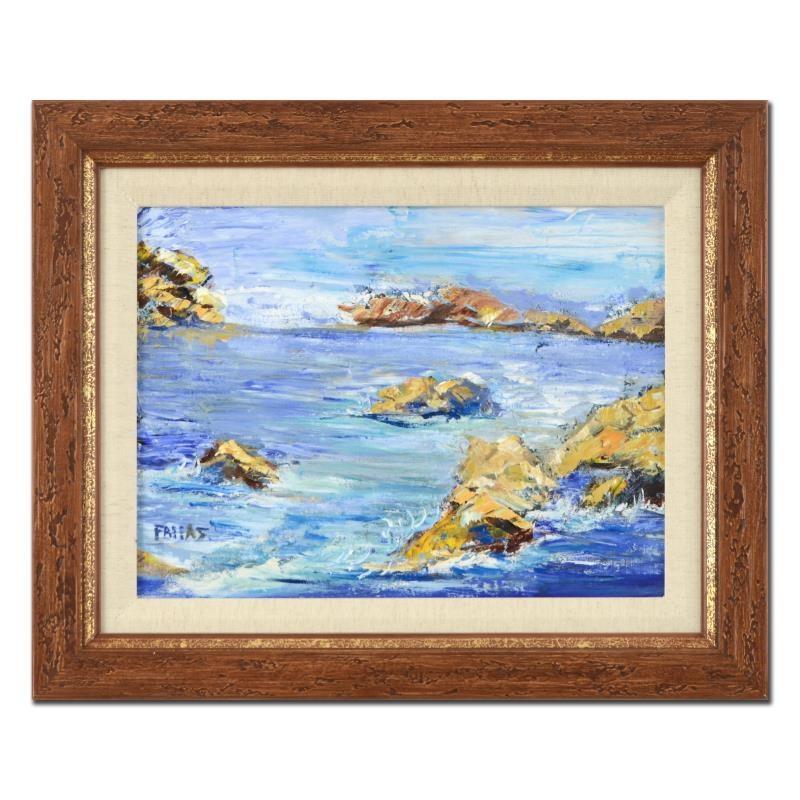 """Elliot Fallas Oil on Canvas """"Rocky Cove"""""""