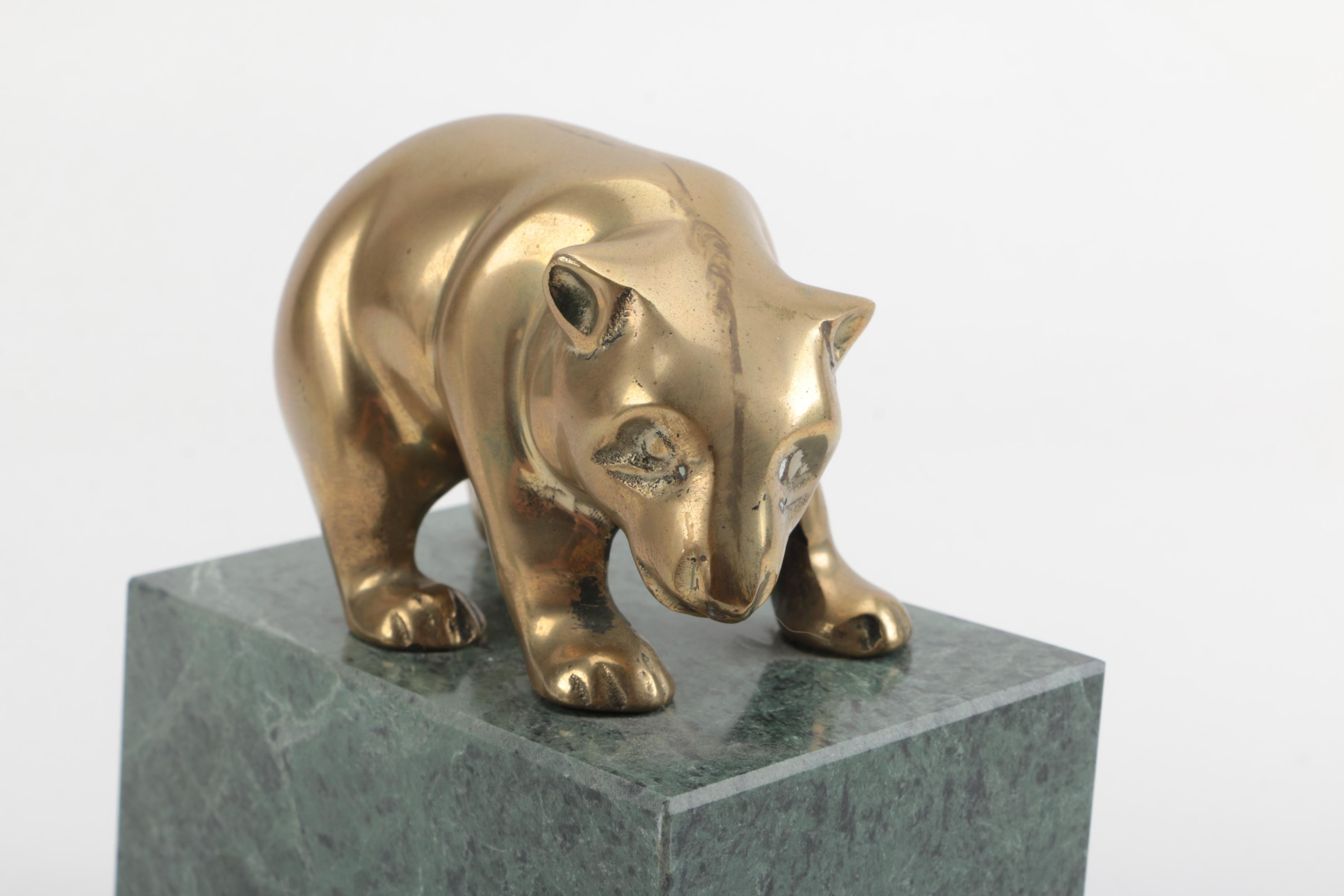 Stock Market Brass Bull And Bear Bookends Ebth