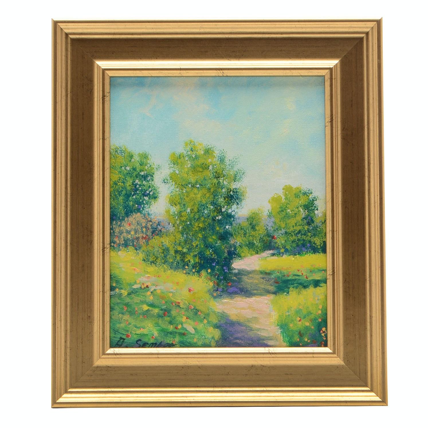 Andrew Semberecki Original Oil Landscape on Canvas Board