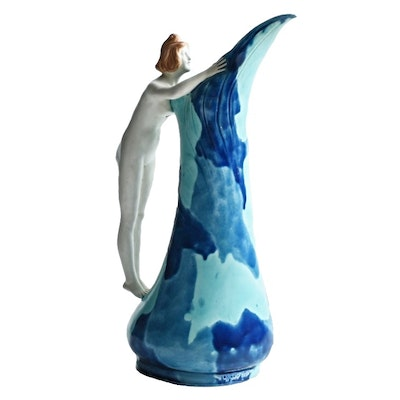 Zsolnay Ceramic Pitcher Designed by Lajos Mack