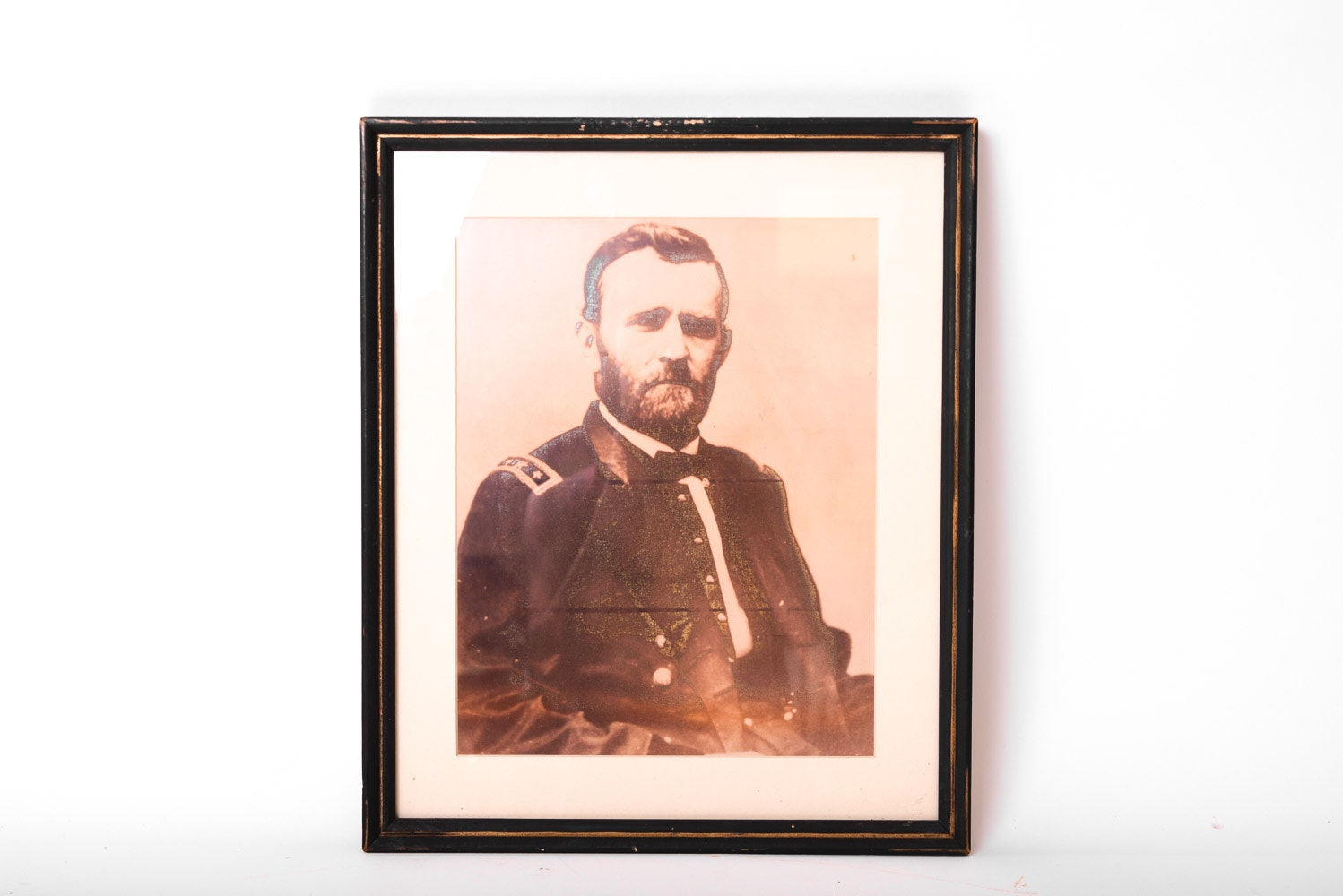 Contemporary Antiqued Photographic Print of Ulysses S Grant