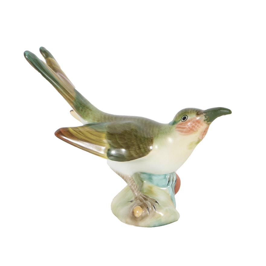 Herend Hummingbird  Porcelain Figurine