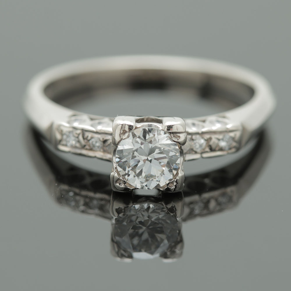 14K White Gold 0.44 CTW Diamond Ring