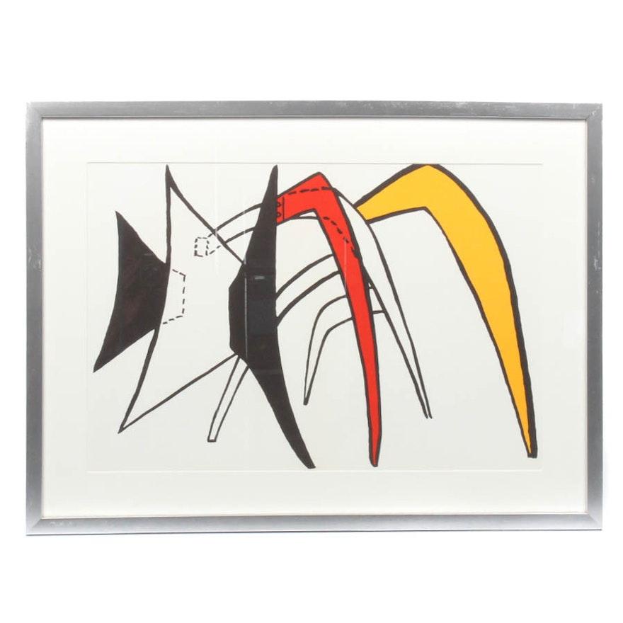 Alexander calder lithograph from stabiles derriere le for Derriere le miroir calder