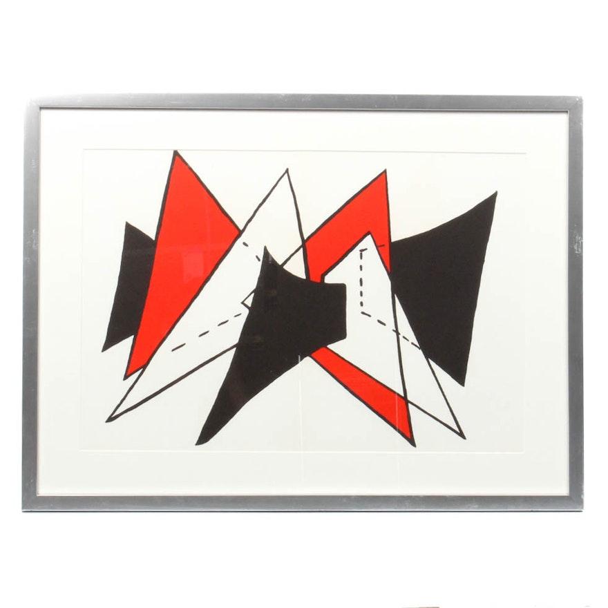 Alexander calder lithograph from stabiles derriere le for Alexander calder derriere le miroir