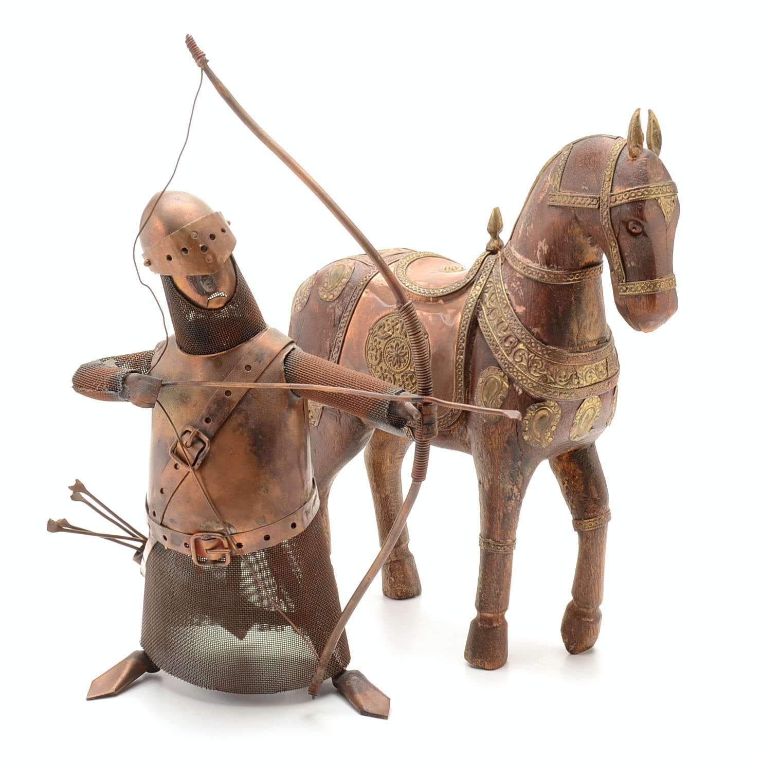 Kight and Horse Decorative Figures
