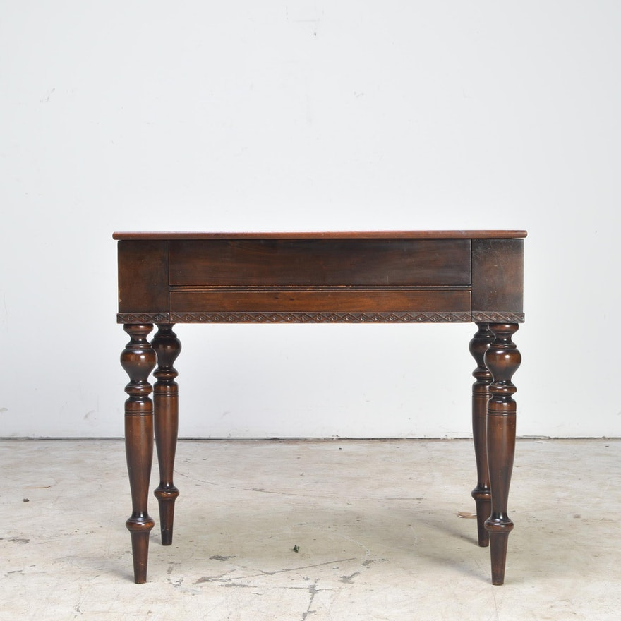 Antique Mahogany Spinet Desk by Bayview Furniture Co. - Antique Mahogany Spinet Desk By Bayview Furniture Co. : EBTH