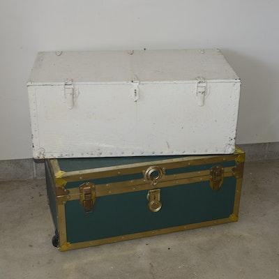 Vintage Trunks Featuring Belber Trunk & Bag Company - Online Furniture Auctions Vintage Furniture Auction Antique