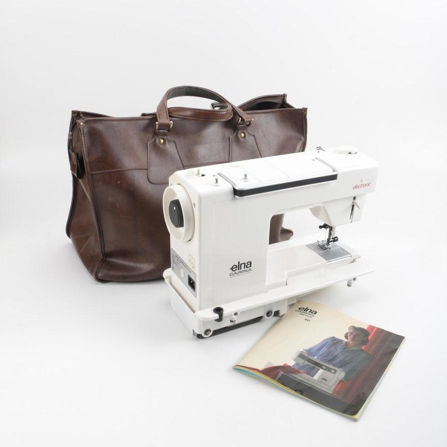 Vintage Elna Carina Sewing Machine EBTH Enchanting Elna Carina Sewing Machine