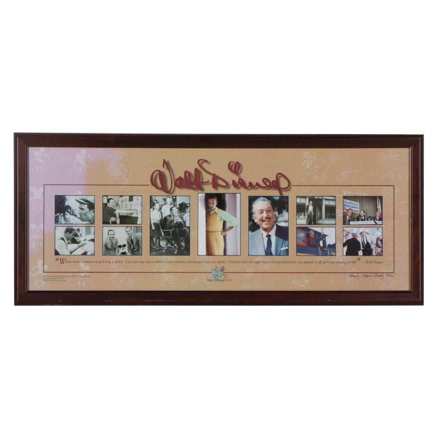 Limited Edition Collage of Walt Disney Photographs : EBTH