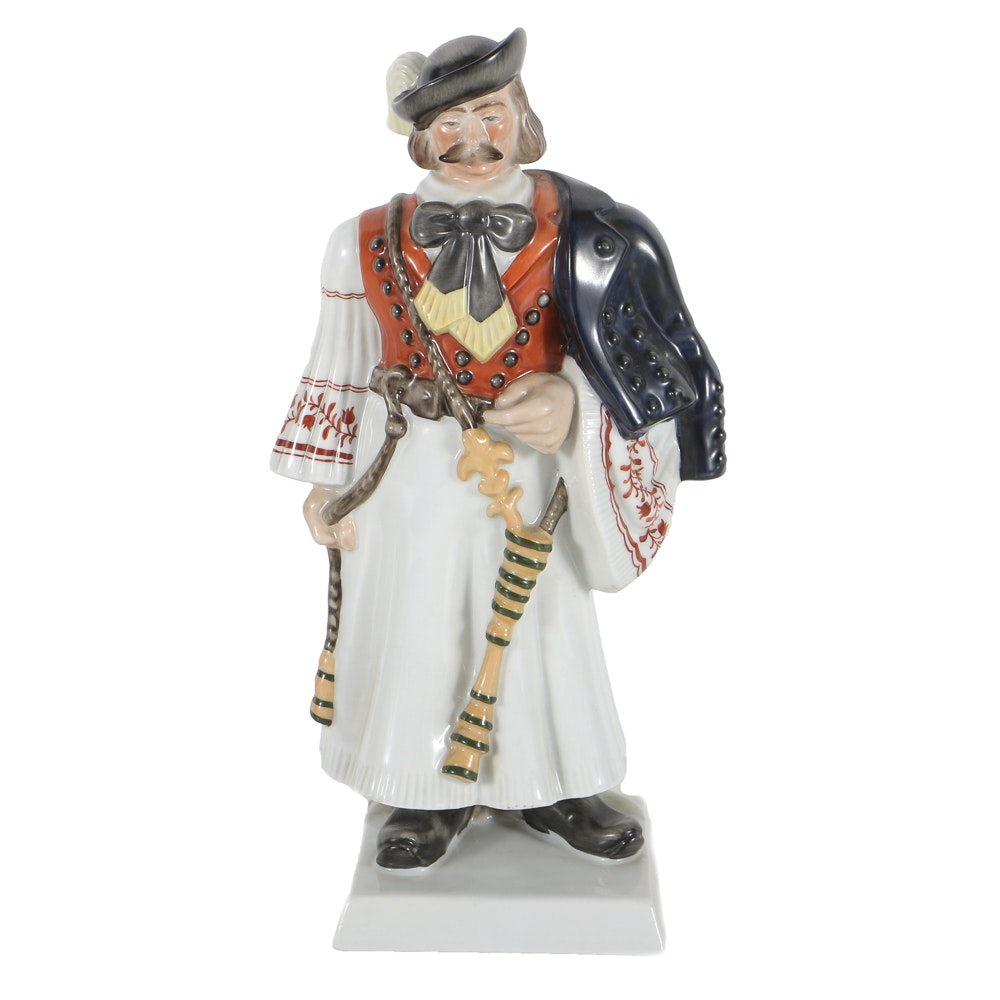 Herend Porcelain Figurine Of A Man In Ethnic Outfit