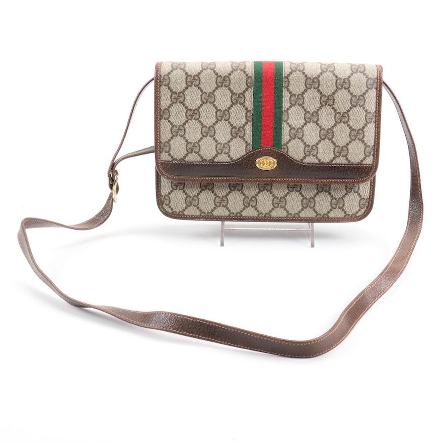 7106d5d7883 Vintage Gucci Supreme Canvas Crossbody Bag