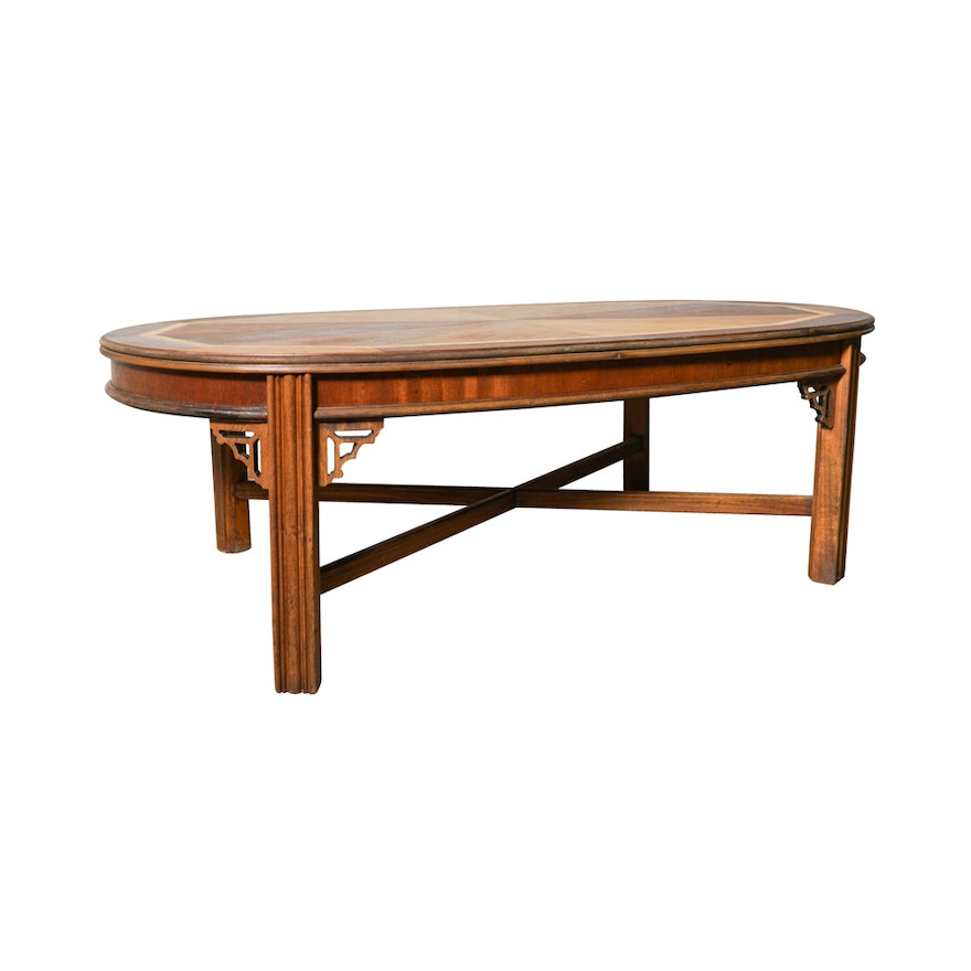 Lane Furniture Wood Coffee Table: Vintage Chinese Chippendale Style Coffee Table By Lane