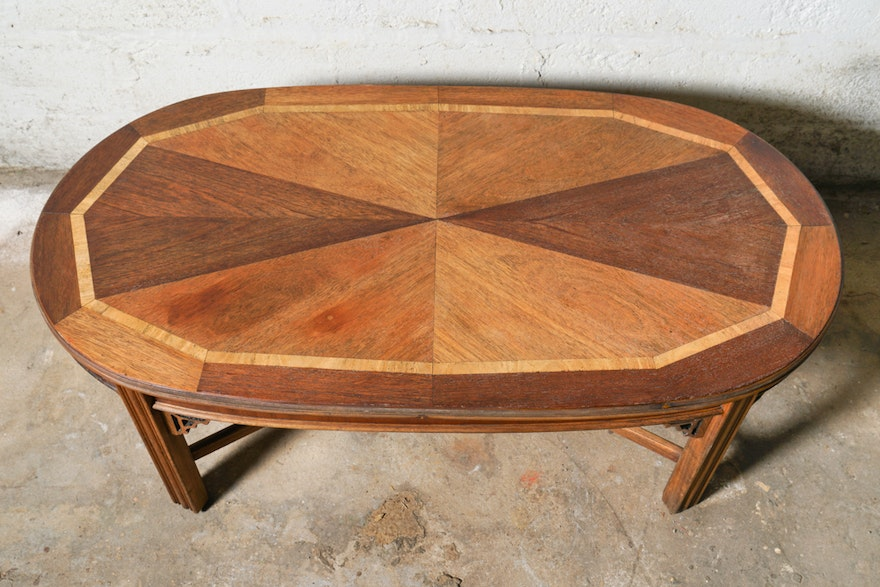Vintage chinese chippendale style coffee table by lane for Coffee table 80 x 50