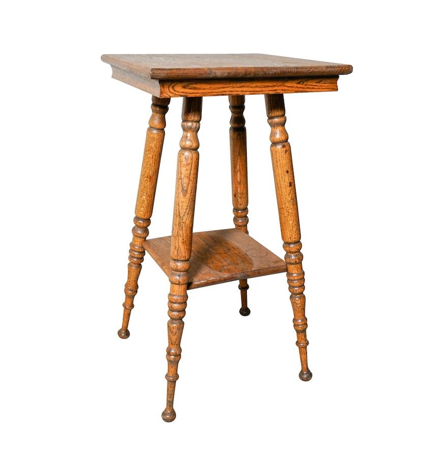 Antique oak lamp table ebth antique oak lamp table geotapseo Choice Image