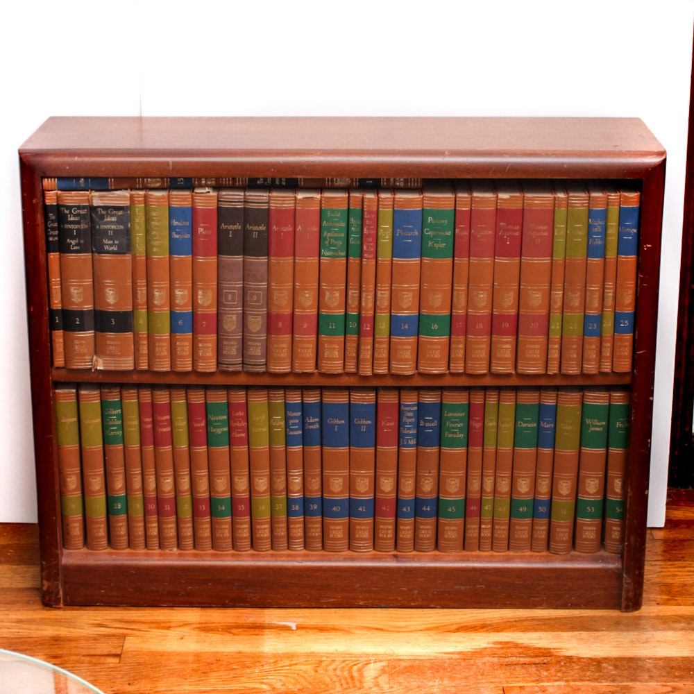 """""""Encyclopedia Britannica Great Books"""" With Wooden ..."""