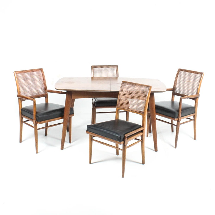 Mid Century Modern Dining Table and Chairs by Henredon
