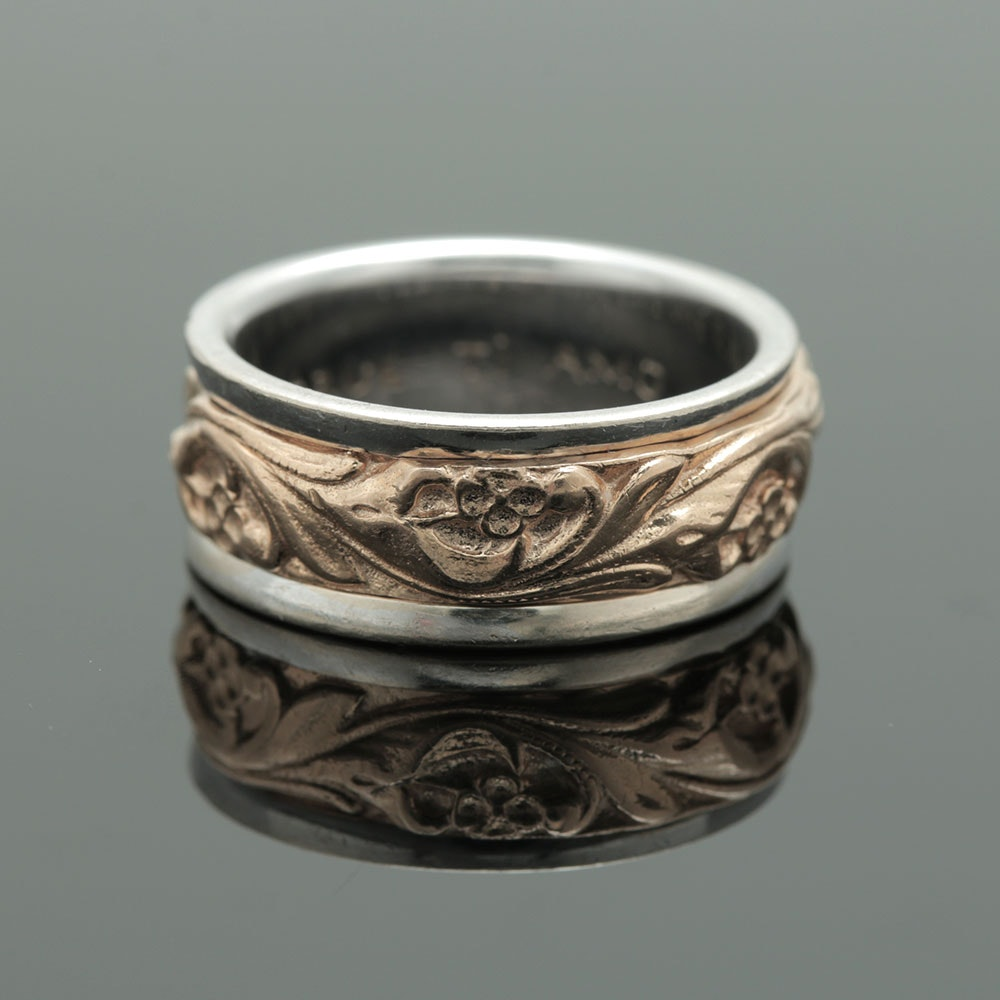 """ArtCarved 14K Two Tone Gold """"Posy"""" Ring"""
