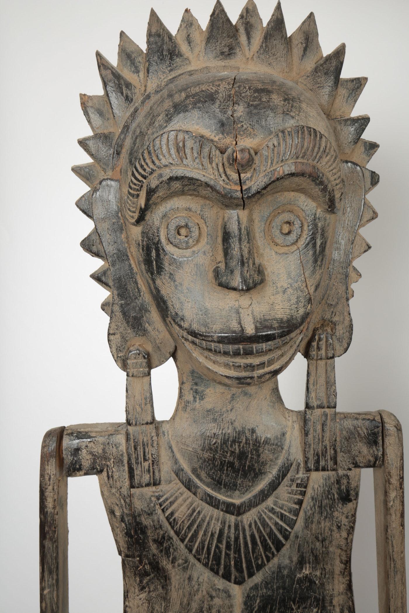 Oceania style carved wood figures ebth