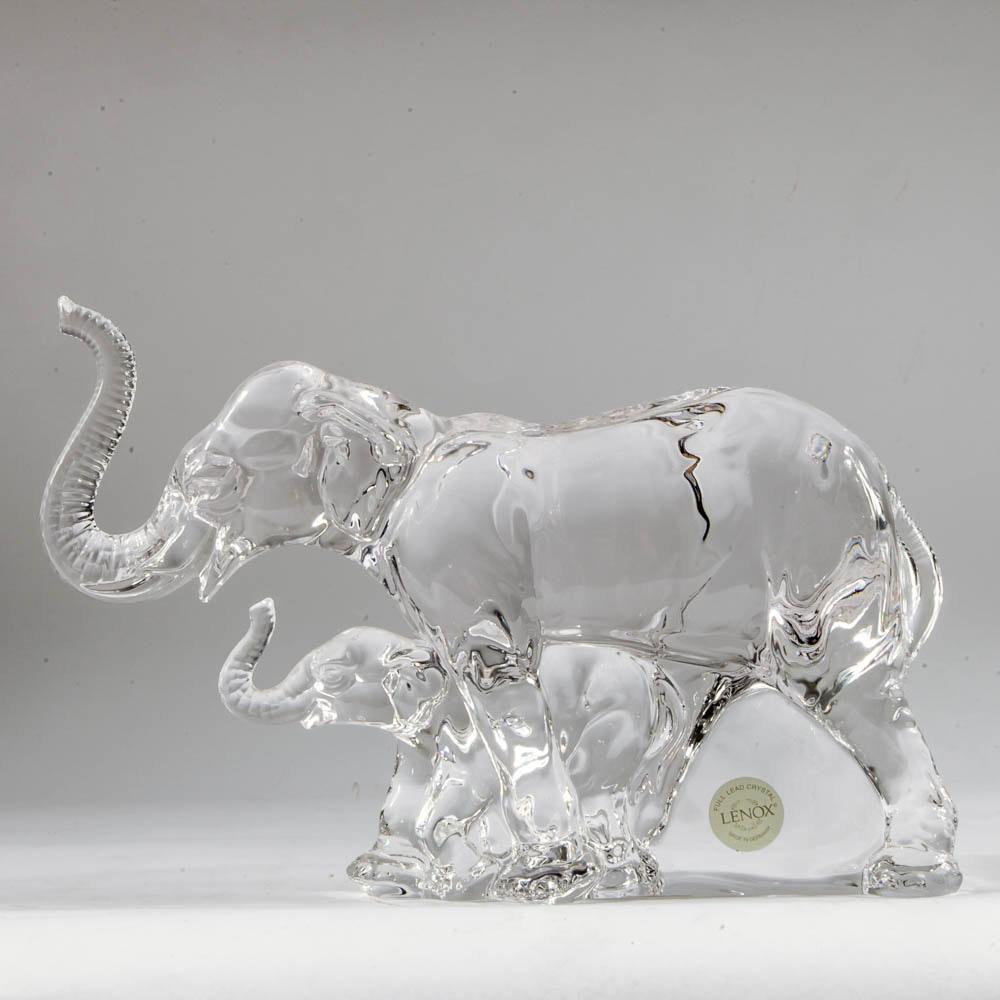 Lenox Lead Crystal Elephant Figurine ...