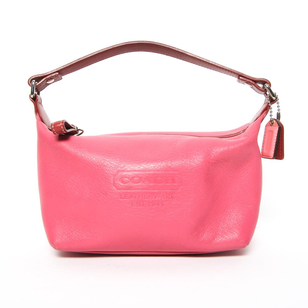 785c8065161a ... reduced womens small pink coach bag b07ac 9401c