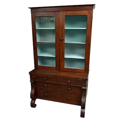 Antique Empire Style Secretary Bookcase - Online Furniture Auctions Vintage Furniture Auction Antique