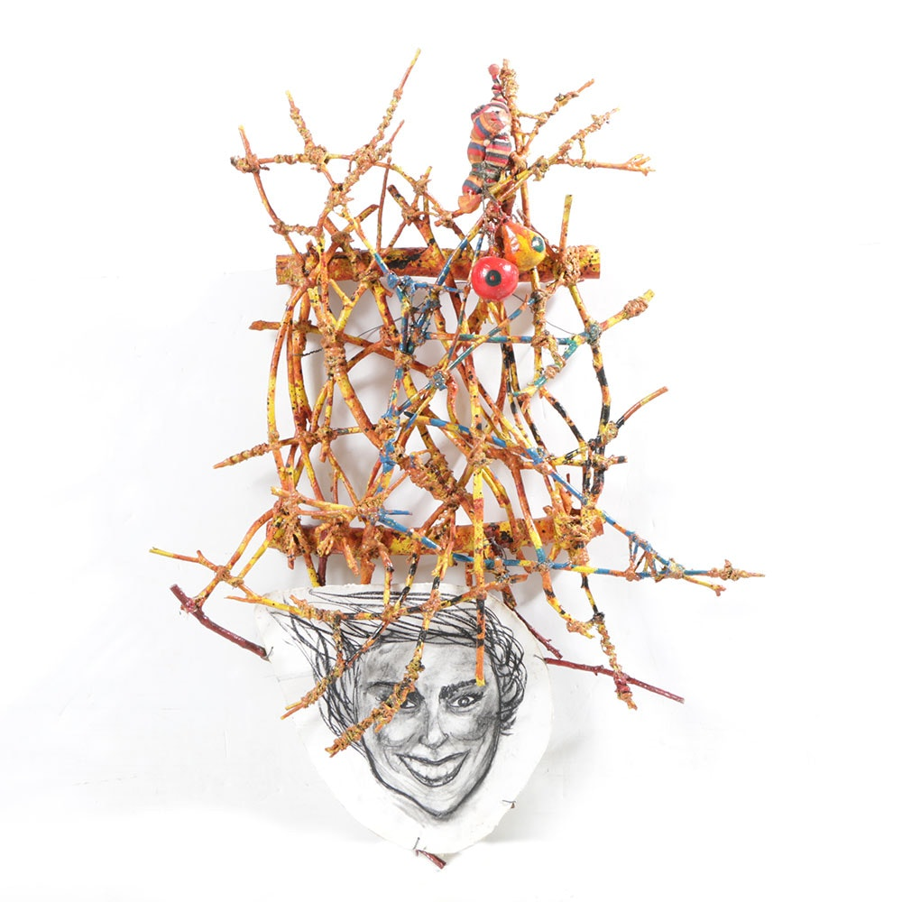 "Frank Kowing Mixed Media Sculpture ""Danielle"""