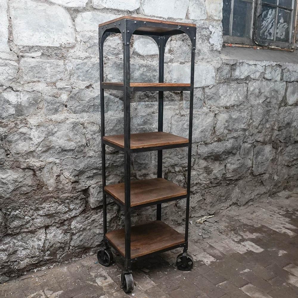 Wood and Metal Industrial Style Baker's Rack