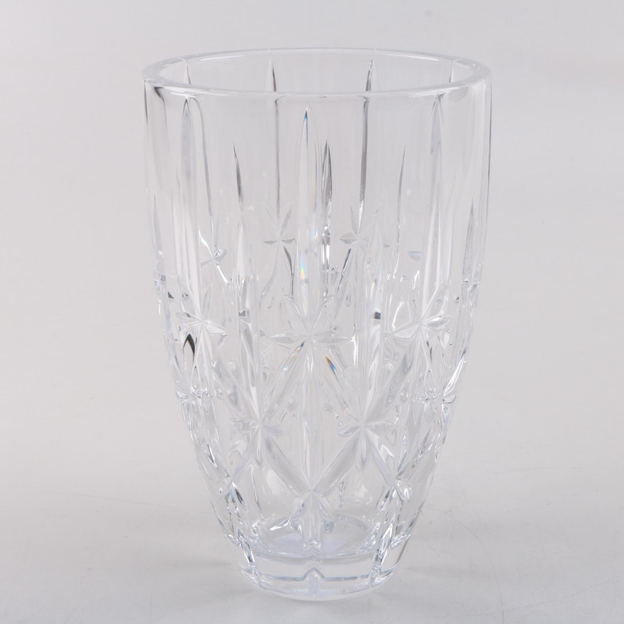 Marquis By Waterford Sparkle Crystal Vase Ebth