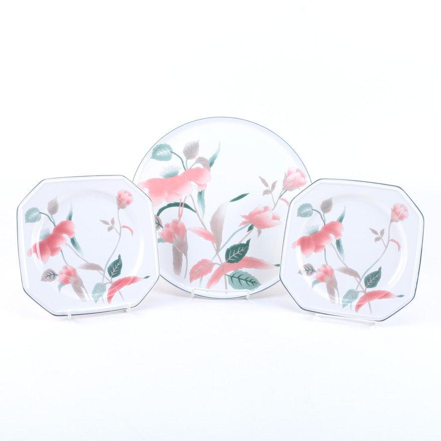 Mikasa silk flowers ceramic plates ebth mikasa silk flowers ceramic plates mightylinksfo
