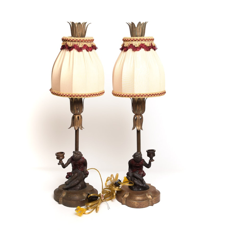 Vintage chelsea house monkey table lamps ebth vintage chelsea house monkey table lamps geotapseo Gallery
