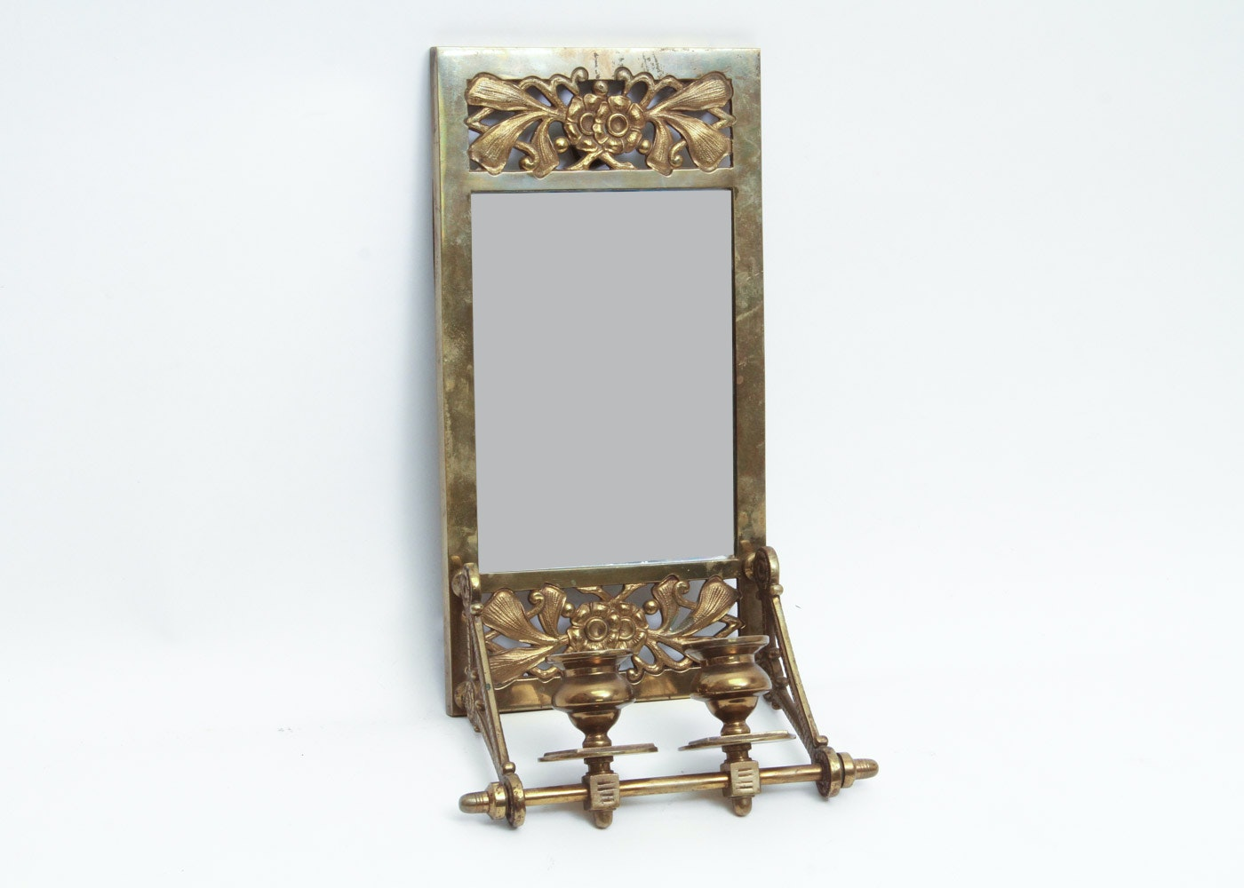 Brass Wall Sconce With Mirror Ebth
