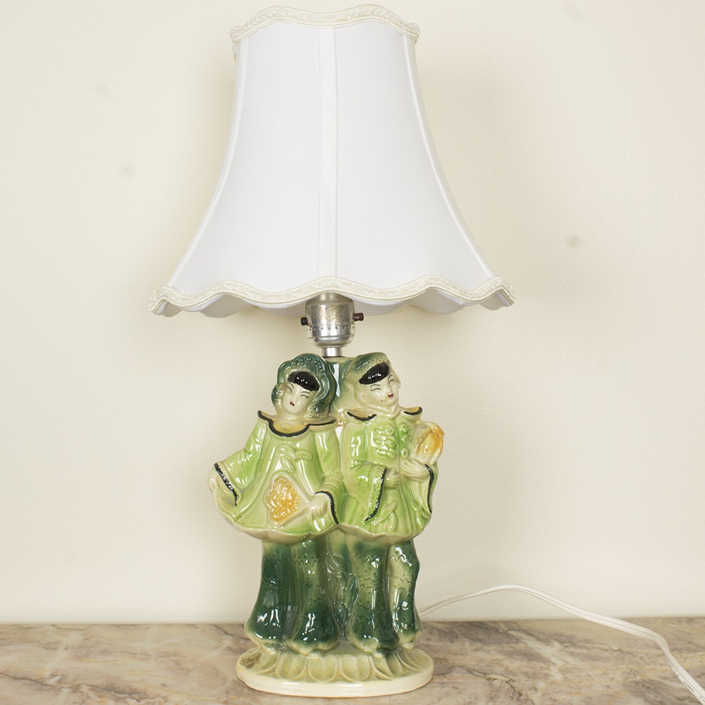 Asian Inspired Figural Ceramic Lamp