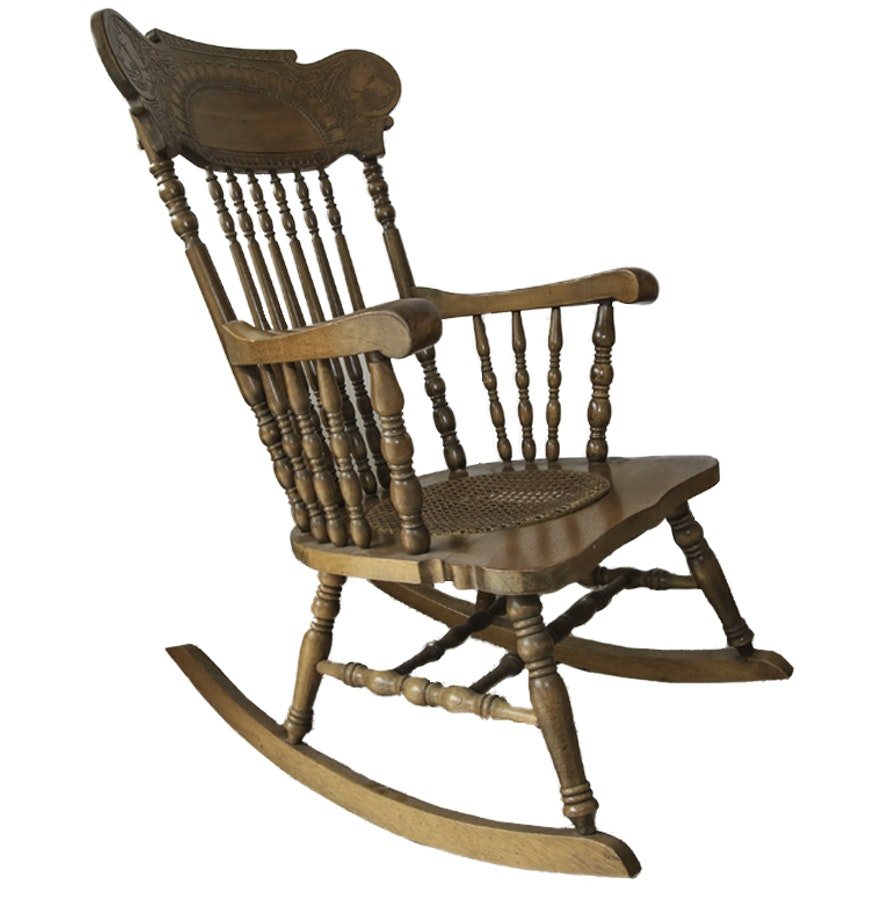 Wooden vintage rocking chair by lock 1776 furniture for H furniture loom chair