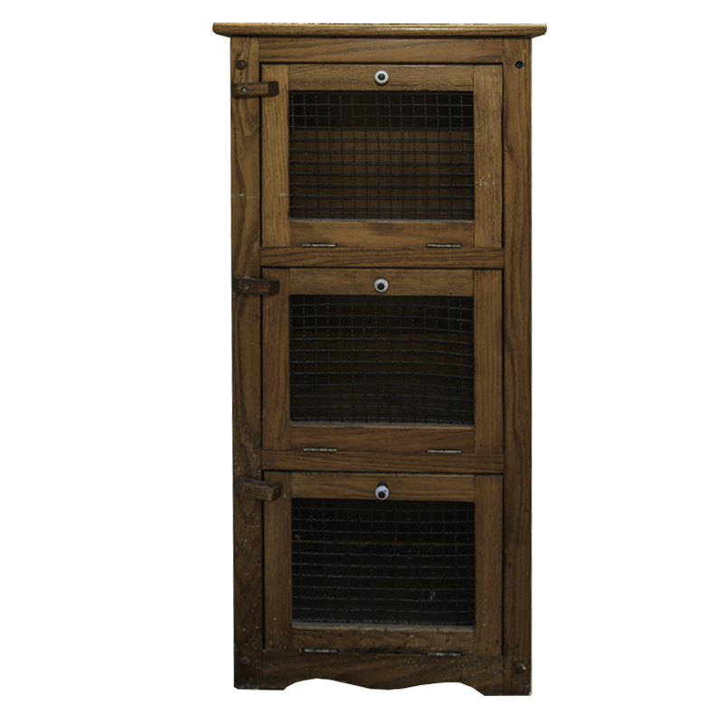 Wooden and Metal Primitive Pantry Cabinet : EBTH