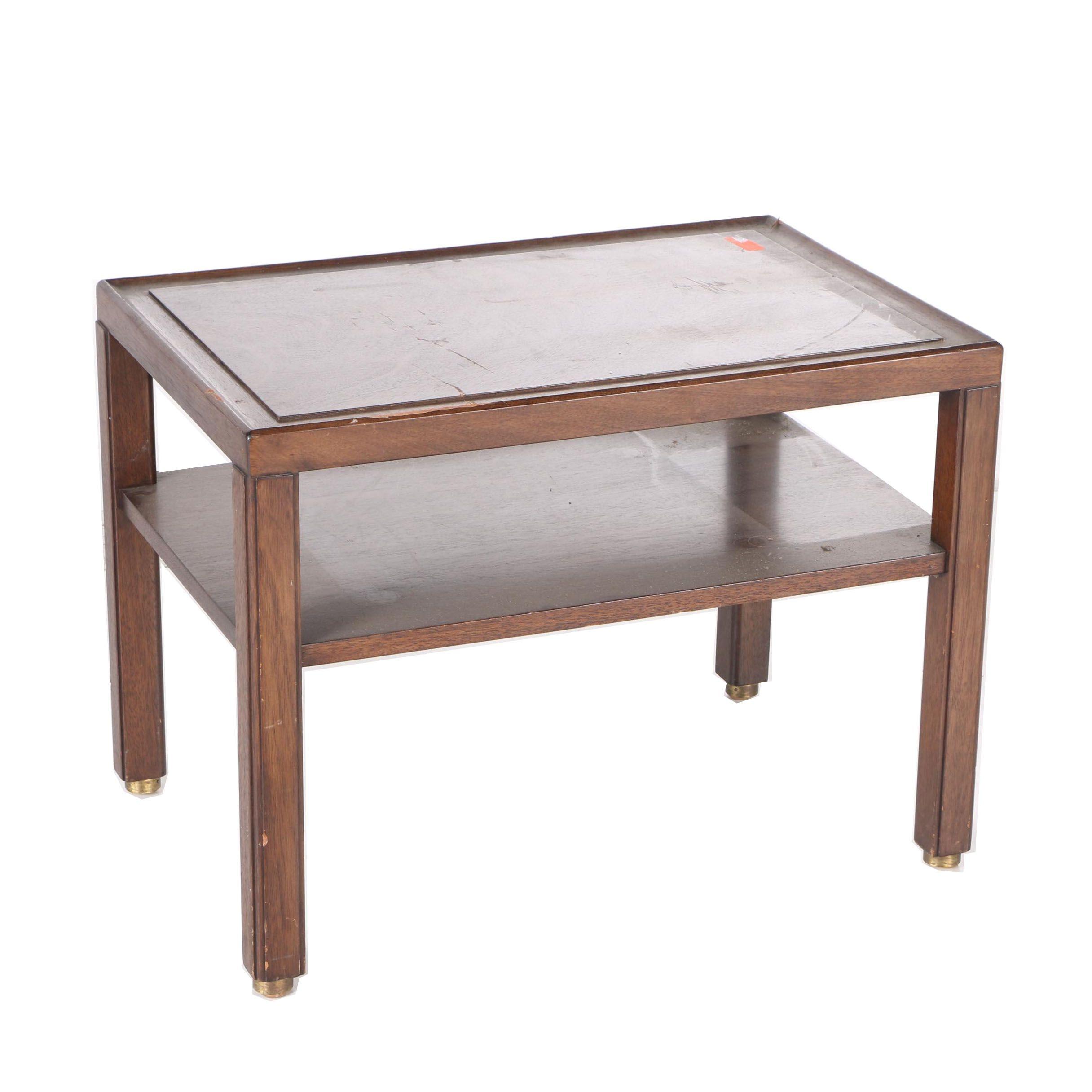 Vintage Mahogany End Table By Dunbar ...