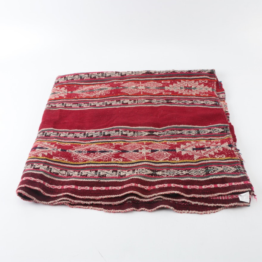 Persian Hand Woven Bakhtiari Style Wool Area Rug Ebth: Handwoven Peruvian Wool Rug/Blanket