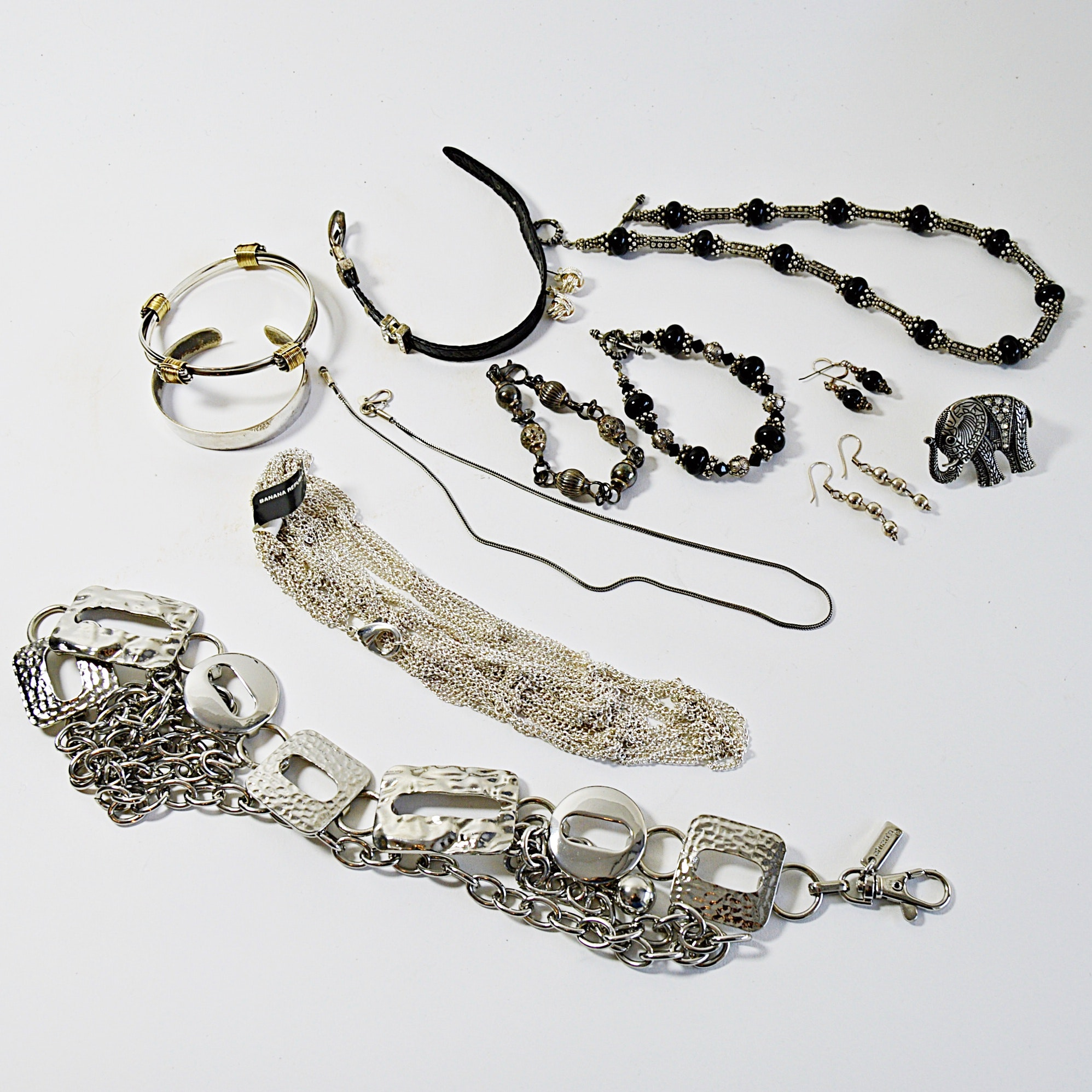 Sterling Silver and Silver Metal Jewelry with Lee Cox Parure