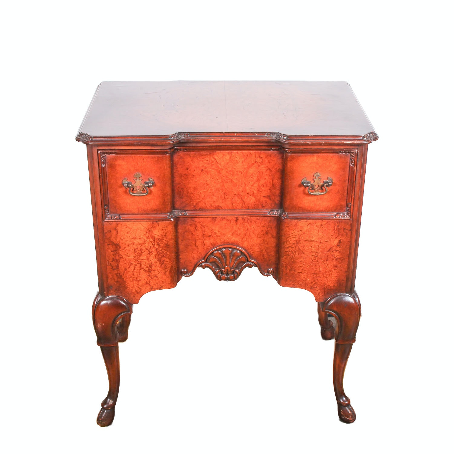 Vintage Queen Anne Style Side Table ...