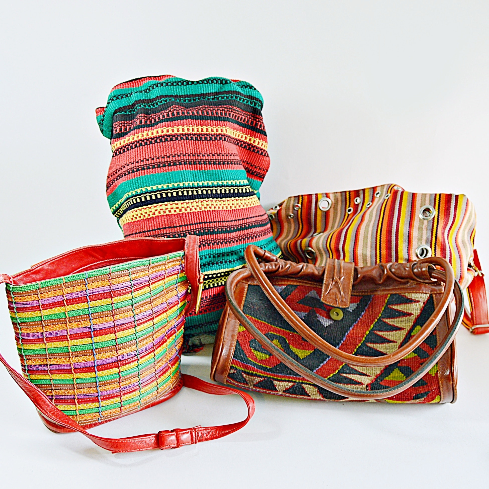 Group of Four Woven Bags Including Sharif
