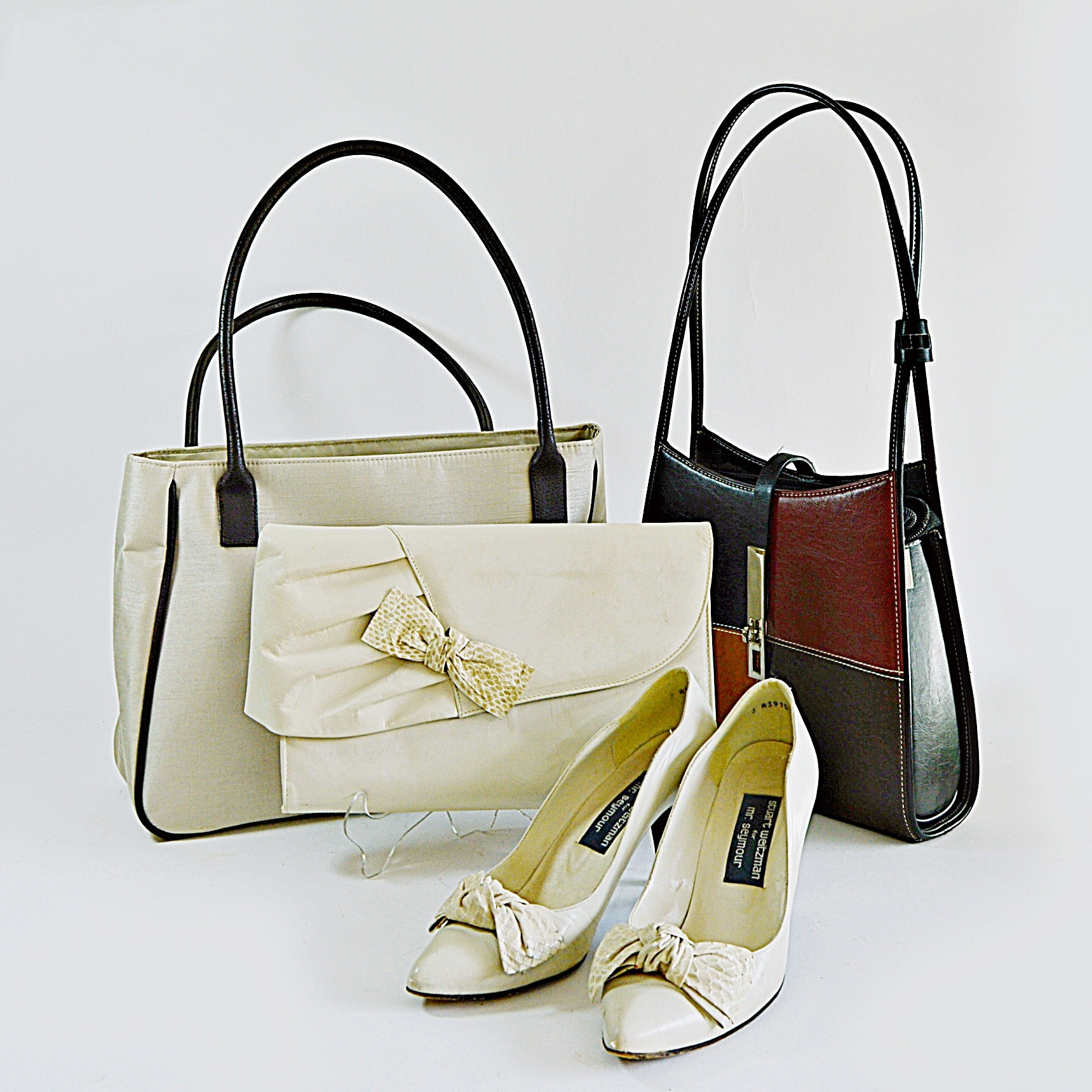 Three Purses, Shoes with Stuart Weitzman