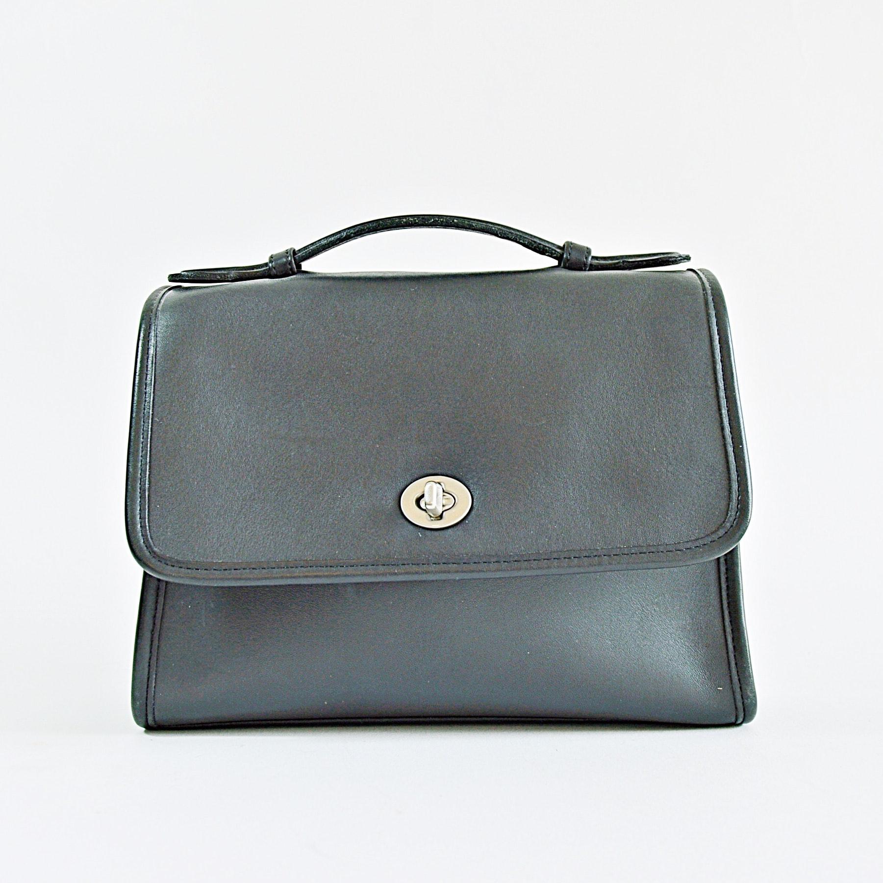 Coach Black Leather Handbag and Wallet