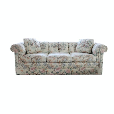 Quilted Box Sofa by Baker Furniture. Online Furniture Auctions   Vintage Furniture Auction   Antique