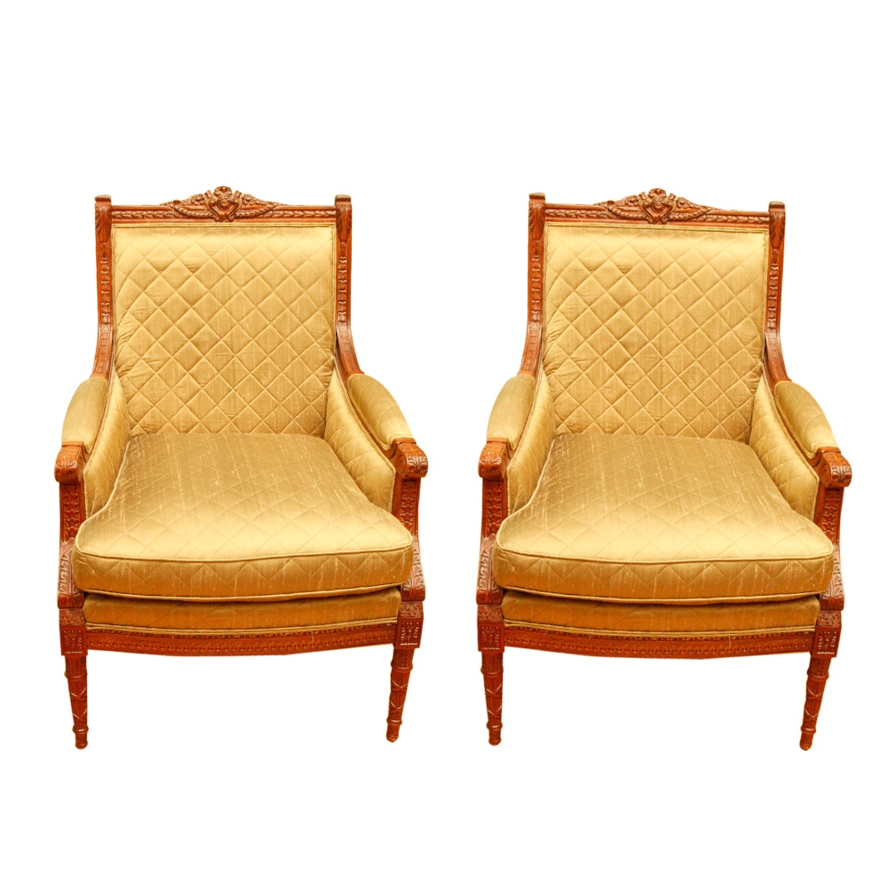 Pair of Louis XVI Style Armchairs by Sherrill Furniture